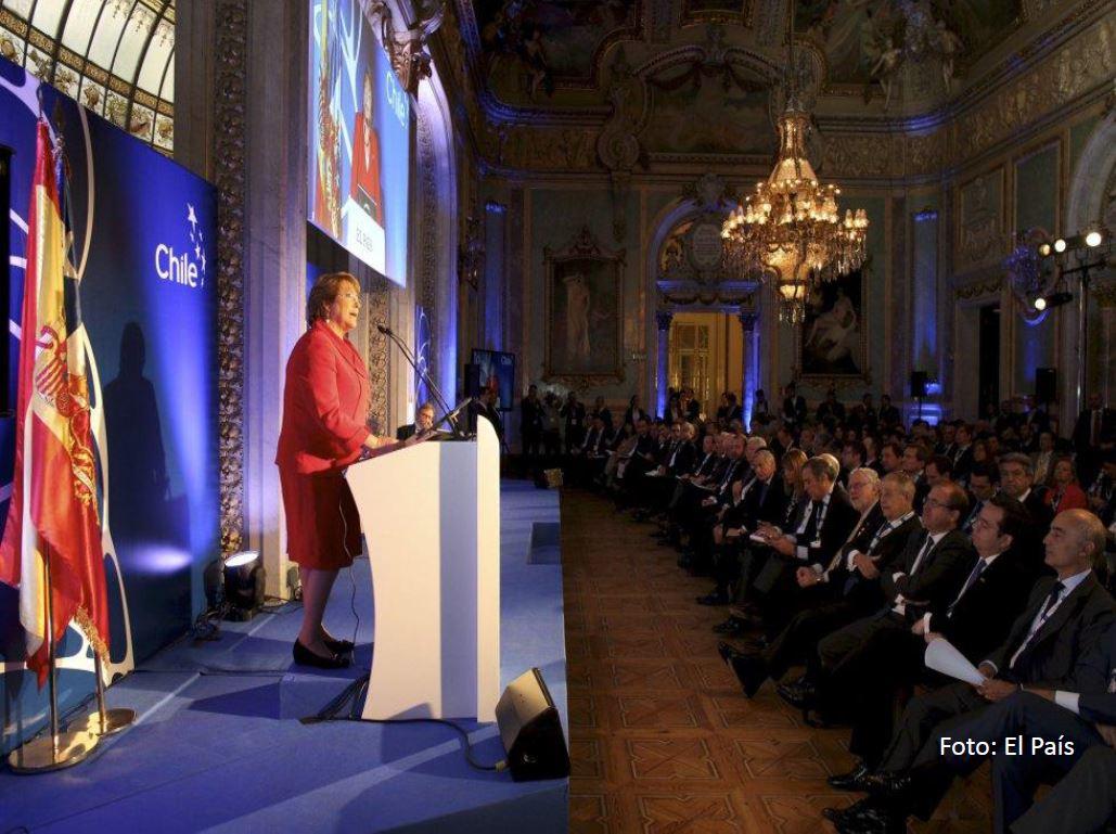 Bachelet en Invertir en Chile