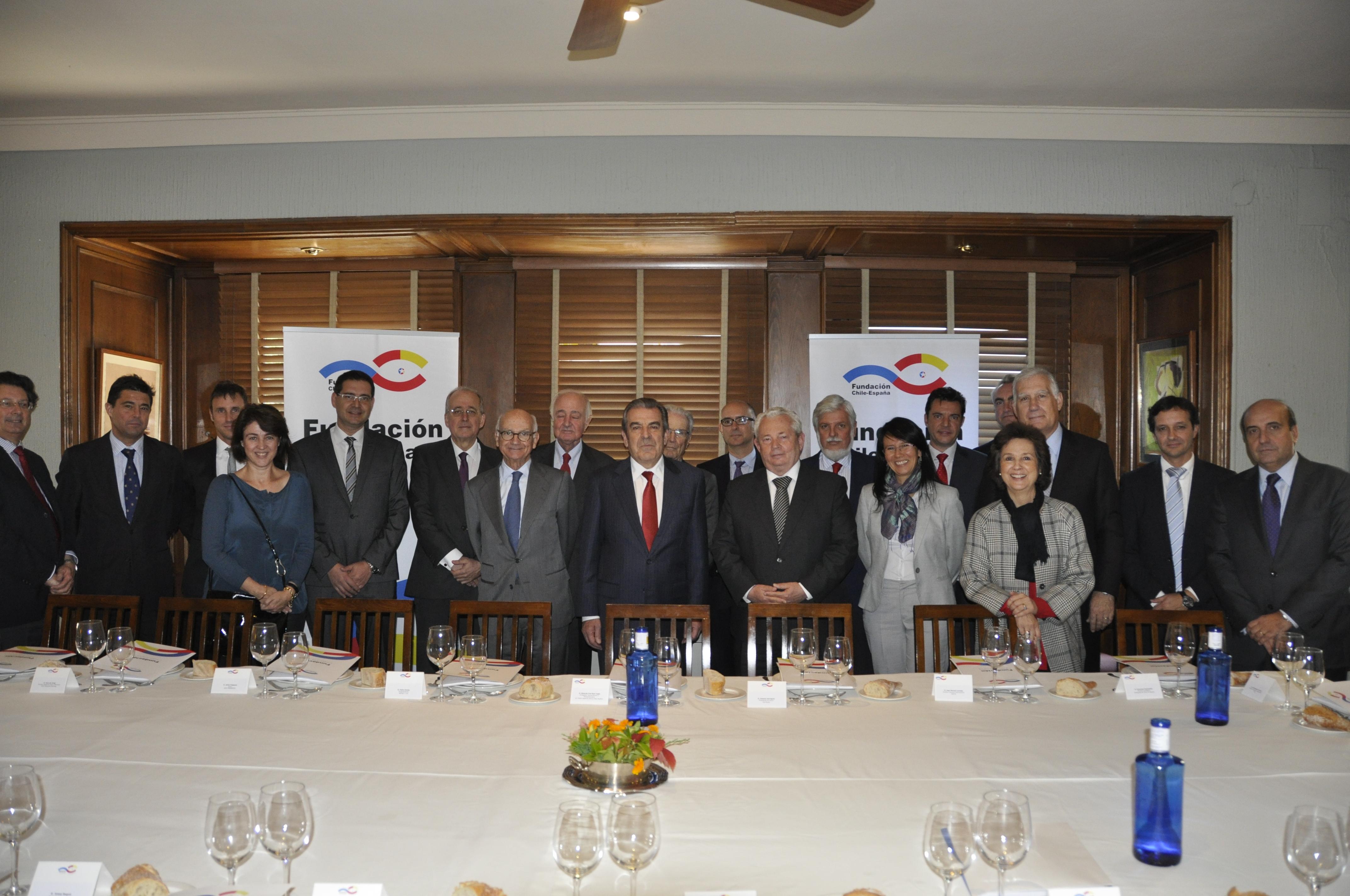 Almuerzo Coloquio con el presidente de Chile, Eduardo Frei Ruiz-Tagle