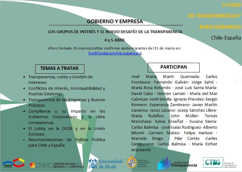 FORO GOBIERNO Y EMPRESA: LOS GRUPOS DE INTERÉS Y EL NUEVO DESAFÍO DE LA TRANSPARENCIA